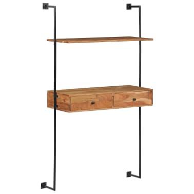 "vidaXL Wall Desk 35.4""x15.7""x66.9"" Solid Acacia Wood[9/11]"