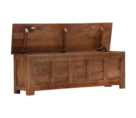 vidaXL Úložný box z mangovníkového dreva 120x30x40 cm[4/15]