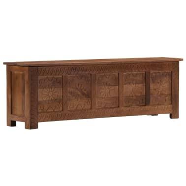 vidaXL Úložný box z mangovníkového dreva 120x30x40 cm[12/15]