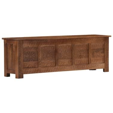 vidaXL Úložný box z mangovníkového dreva 120x30x40 cm[13/15]
