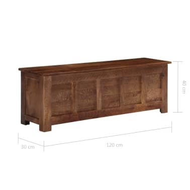 vidaXL Úložný box z mangovníkového dreva 120x30x40 cm[10/15]