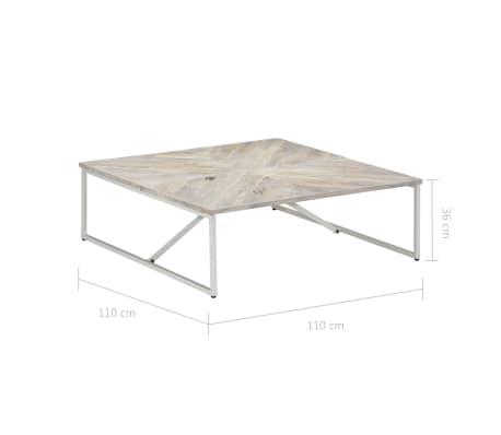 vidaXL Kavos staliukas, 110x110x36cm, mango medienos masyvas[8/12]