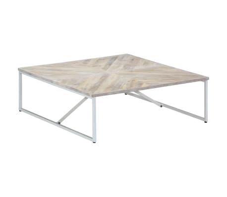 vidaXL Kavos staliukas, 110x110x36cm, mango medienos masyvas[9/12]