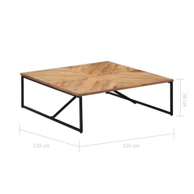vidaXL Kavos staliukas, 110x110x36cm, akacijos med. masyvas[8/11]