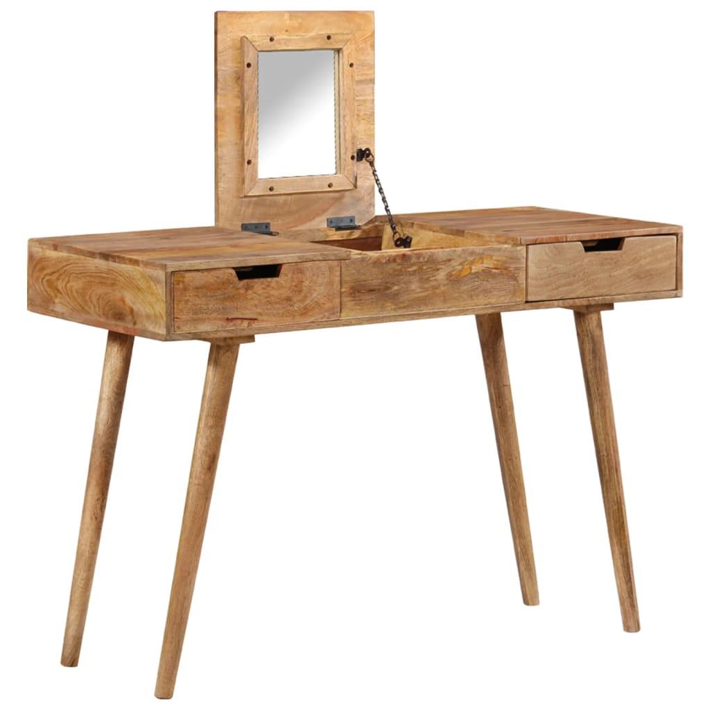 Toaletní stolek 112 x 45 x 76 cm masivní mangovníkové dřevo