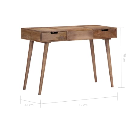 "vidaXL Dressing Table 44""x17.7""x29.9"" Solid Mango Wood[11/17]"
