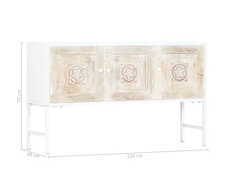 vidaXL Dulap lateral, 120 x 30 x 70 cm, lemn masiv de mango[7/11]