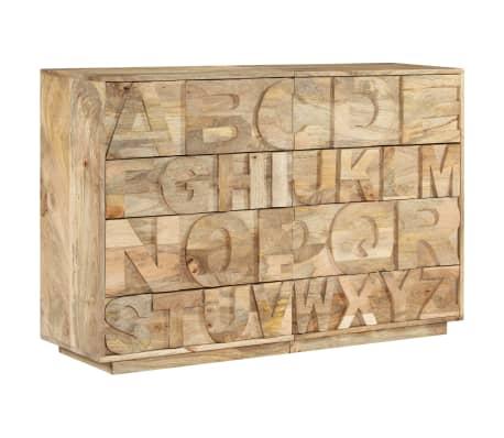 vidaXL Meuble alphabétique avec 6 tiroirs 120x35x79 cm Manguier massif[12/12]