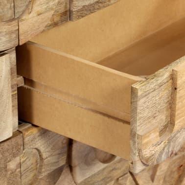 vidaXL Meuble alphabétique avec 6 tiroirs 120x35x79 cm Manguier massif[6/12]