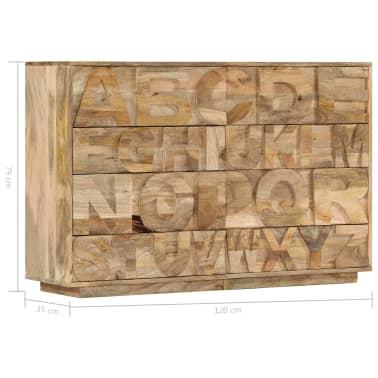 vidaXL Meuble alphabétique avec 6 tiroirs 120x35x79 cm Manguier massif[9/12]