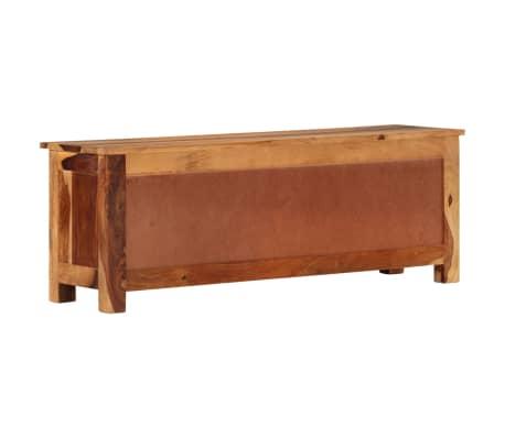 "vidaXL TV Cabinet 43.3""x11.8""x15.7"" Solid Sheesham Wood[2/12]"