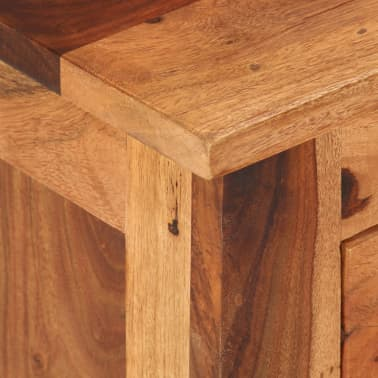 "vidaXL TV Cabinet 43.3""x11.8""x15.7"" Solid Sheesham Wood[3/12]"