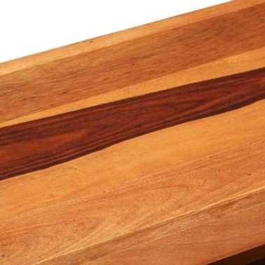 "vidaXL TV Cabinet 43.3""x11.8""x15.7"" Solid Sheesham Wood[5/12]"