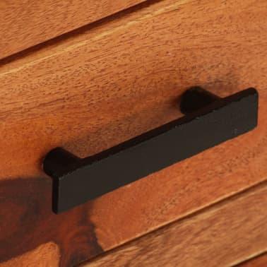 "vidaXL TV Cabinet 43.3""x11.8""x15.7"" Solid Sheesham Wood[6/12]"
