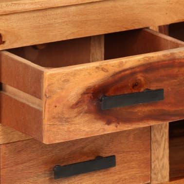 "vidaXL TV Cabinet 43.3""x11.8""x15.7"" Solid Sheesham Wood[7/12]"