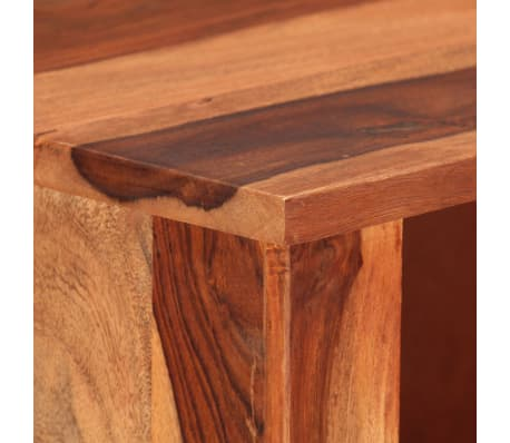 "vidaXL Bookshelf 19.6""x11.8""x39.3"" Solid Sheesham Wood[7/11]"