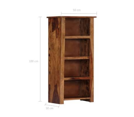"vidaXL Bookshelf 19.6""x11.8""x39.3"" Solid Sheesham Wood[9/11]"