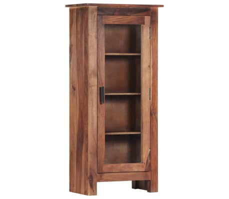 "vidaXL Highboard 19.6""x11.8""x43.3"" Solid Sheesham Wood"
