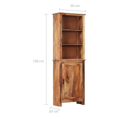 vidaXL Dulap înalt, 60 x 30 x 180 cm, lemn masiv de sheesham[10/14]