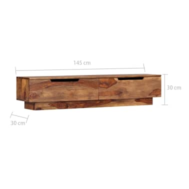 "vidaXL TV Cabinet 57""x11.8""x11.8"" Solid Sheesham Wood[7/12]"