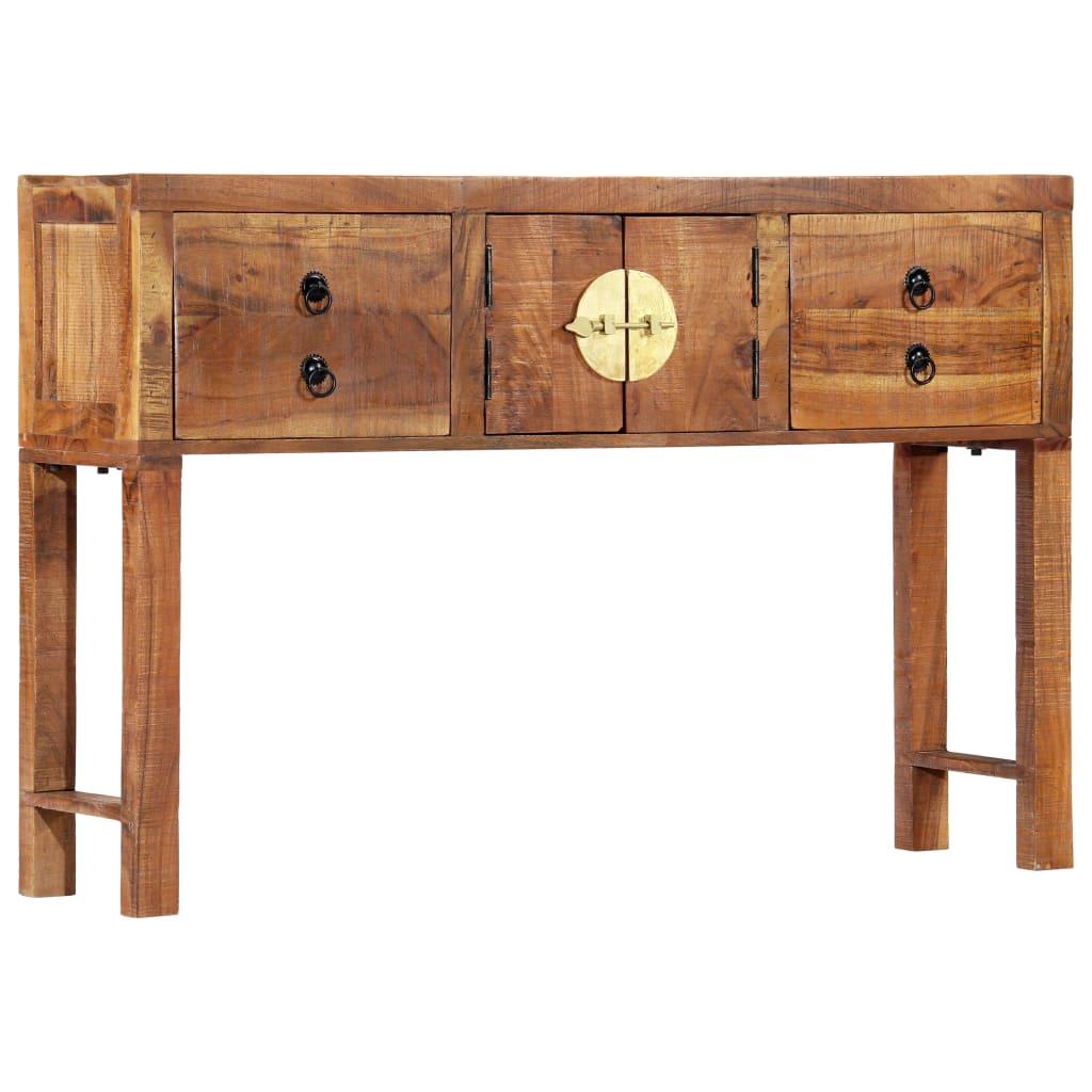 vidaXL Stolik typu konsola, 120 x 30 x 80 cm, lite drewno akacjowe