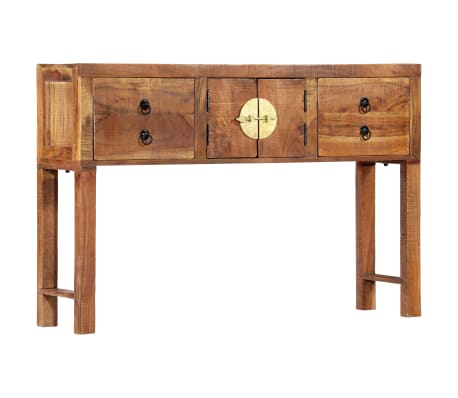 vidaXL Table console 120 x 30 x 80 cm Bois d'acacia massif[1/15]
