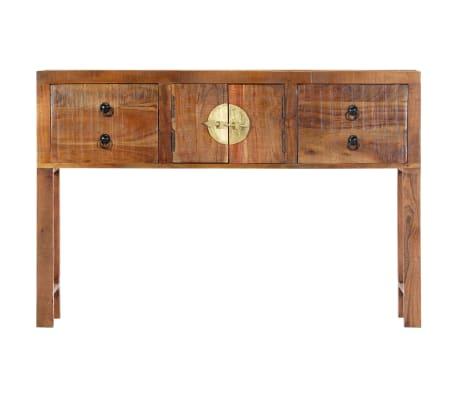 vidaXL Table console 120 x 30 x 80 cm Bois d'acacia massif[2/15]