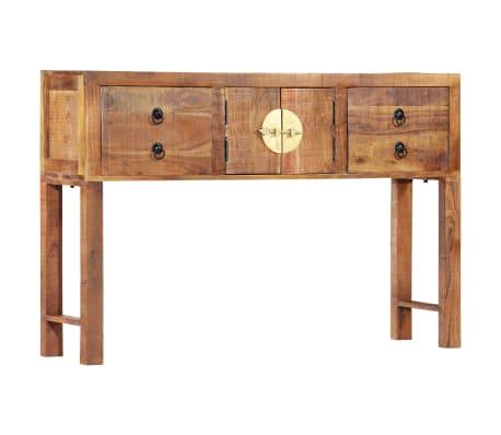 vidaXL Table console 120 x 30 x 80 cm Bois d'acacia massif[11/15]
