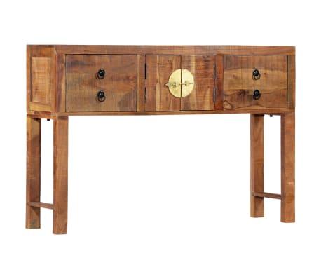 vidaXL Table console 120 x 30 x 80 cm Bois d'acacia massif[13/15]