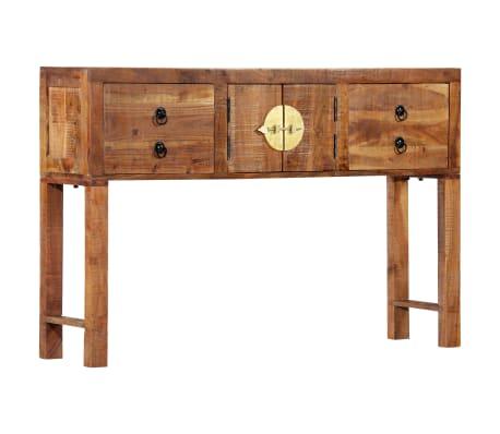 vidaXL Table console 120 x 30 x 80 cm Bois d'acacia massif[14/15]