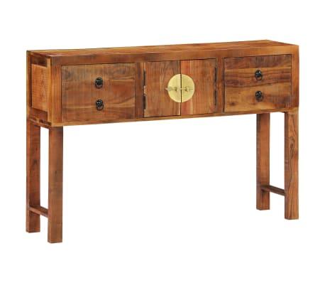 vidaXL Table console 120 x 30 x 80 cm Bois d'acacia massif[15/15]