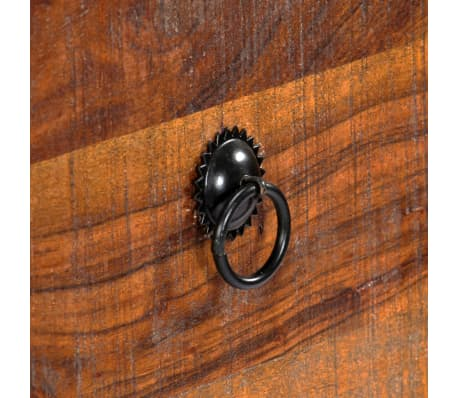 vidaXL Table console 120 x 30 x 80 cm Bois d'acacia massif[7/15]