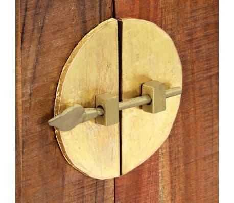 vidaXL Table console 120 x 30 x 80 cm Bois d'acacia massif[8/15]