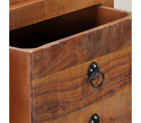 vidaXL Table console 120 x 30 x 80 cm Bois d'acacia massif[9/15]