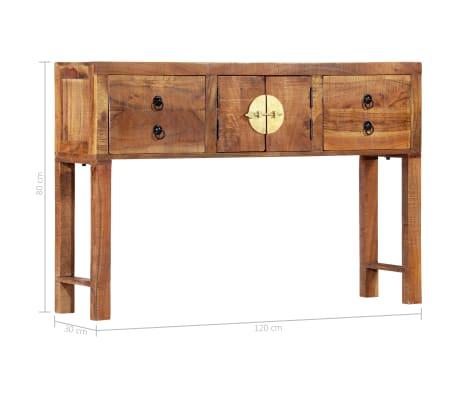 vidaXL Table console 120 x 30 x 80 cm Bois d'acacia massif[10/15]