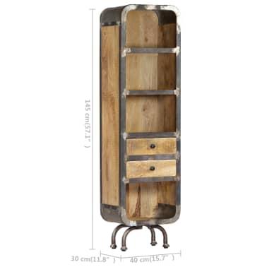 vidaXL Dulap înalt, 40x30x145 cm, lemn masiv de mango[9/13]