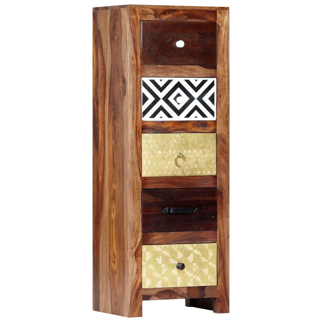 vidaXL Dulap lateral, 40 x 30 x 110 cm, lemn masiv de sheesham poza vidaxl.ro