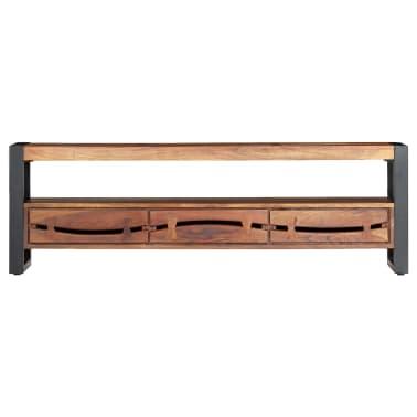 "vidaXL TV Cabinet 55.1""x11.8""x17.7"" Solid Acacia Wood[2/12]"