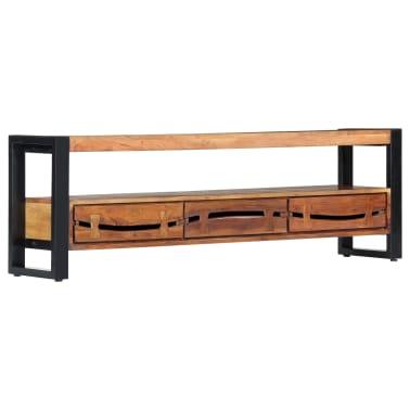 "vidaXL TV Cabinet 55.1""x11.8""x17.7"" Solid Acacia Wood[11/12]"
