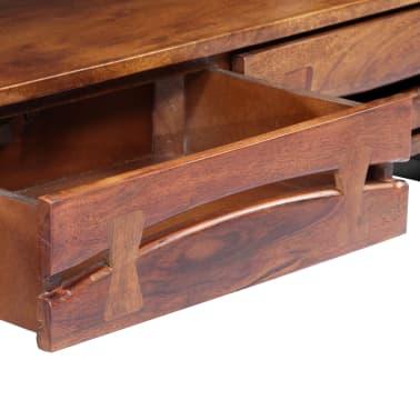 "vidaXL TV Cabinet 55.1""x11.8""x17.7"" Solid Acacia Wood[6/12]"