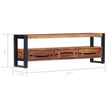 "vidaXL TV Cabinet 55.1""x11.8""x17.7"" Solid Acacia Wood[8/12]"