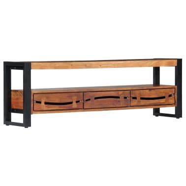 "vidaXL TV Cabinet 55.1""x11.8""x17.7"" Solid Acacia Wood[9/12]"