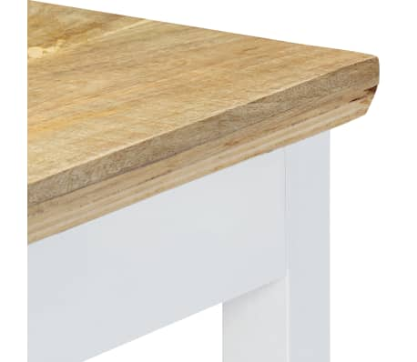 """vidaXL Console Table White and Brown 43.3""""x13.7""""x29.5"""" Solid Mango Wood[6/11]"""