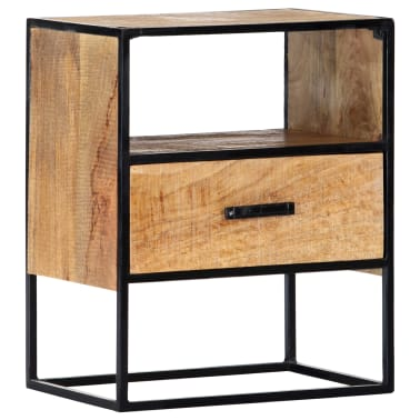 "vidaXL Nightstand 15.7""x11.8""x19.6"" Solid Mango Wood[1/12]"