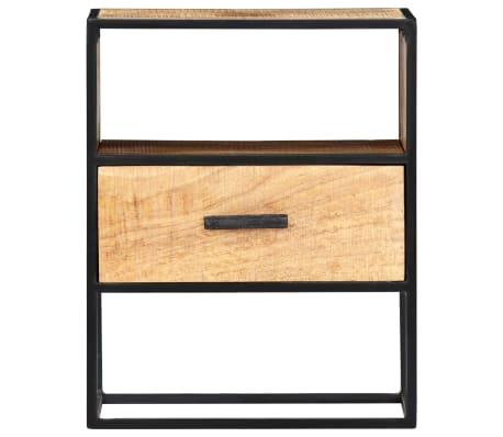 "vidaXL Nightstand 15.7""x11.8""x19.6"" Solid Mango Wood[2/12]"