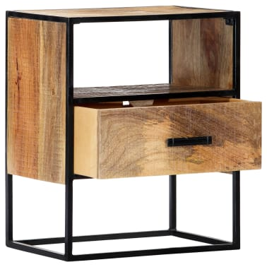 "vidaXL Nightstand 15.7""x11.8""x19.6"" Solid Mango Wood[11/12]"