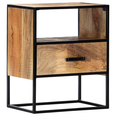 "vidaXL Nightstand 15.7""x11.8""x19.6"" Solid Mango Wood[12/12]"