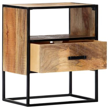 "vidaXL Nightstand 15.7""x11.8""x19.6"" Solid Mango Wood[3/12]"