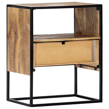 "vidaXL Nightstand 15.7""x11.8""x19.6"" Solid Mango Wood[4/12]"