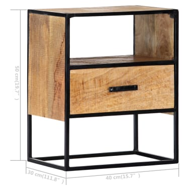 "vidaXL Nightstand 15.7""x11.8""x19.6"" Solid Mango Wood[8/12]"